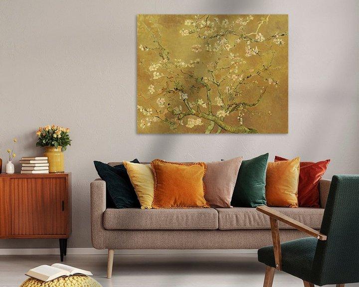 Beispiel: Mandelblüte ALMOND BLOSSOM ocker - Vincent van Gogh