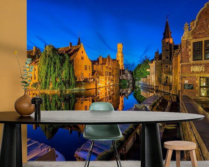 Sfeerimpressie behang: Rozenhoedkaai Brugge van Bert Beckers