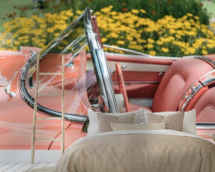Sfeerimpressie behang: Chevrolet Corvette C1 klassieke sportwagen van Sjoerd van der Wal
