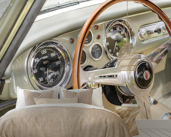 Sfeerimpressie behang: Maserati A6G 2000 door Allemano Italian coupe GT sportwagen van Sjoerd van der Wal