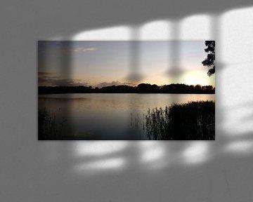 Zonsondergang in terschuur nederland Ingineur Jullius Put  van Wilbert Van Veldhuizen