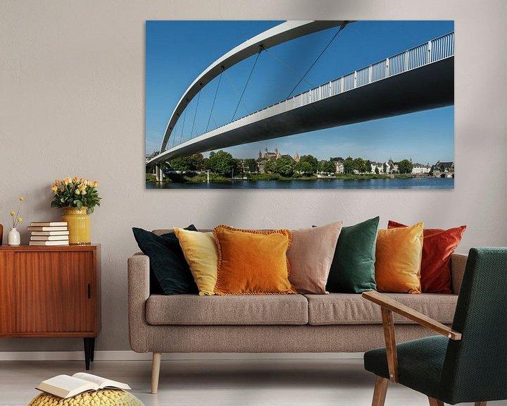 Sfeerimpressie: Maastricht, hoge brug van Leo Langen