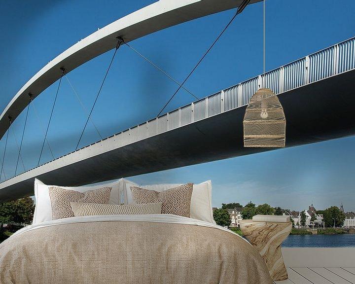 Sfeerimpressie behang: Maastricht, hoge brug van Leo Langen