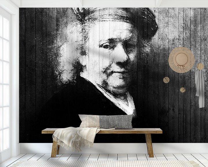 Sfeerimpressie behang: Zelfportret Rembrandt van Rijn