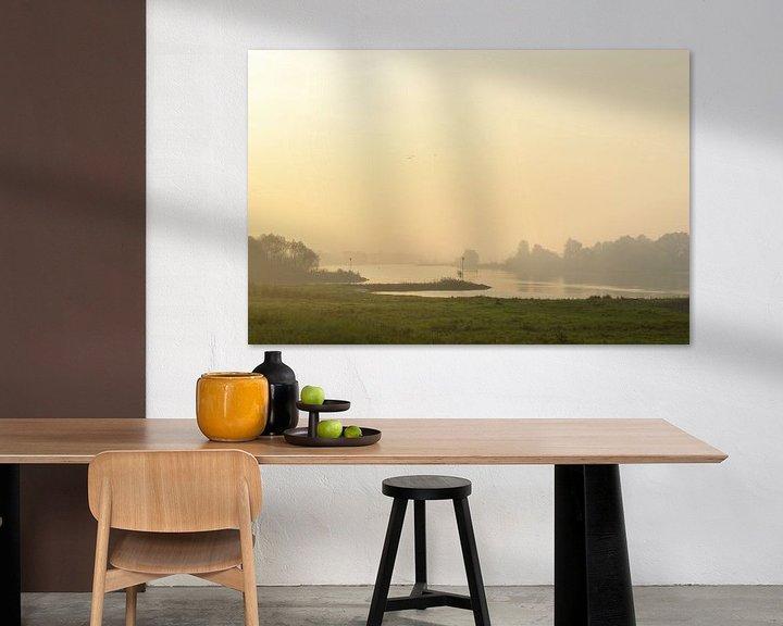 Sfeerimpressie: Zonsopkomst boven de rivier de IJssel en de uiterwaarden van Sjoerd van der Wal