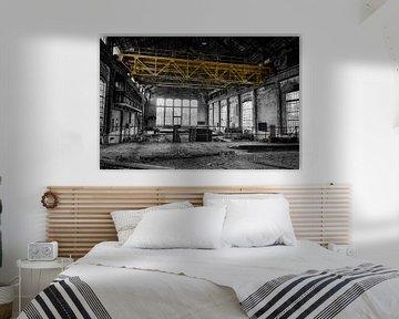 De grote fabriek (zwart-wit) von Rens Bok