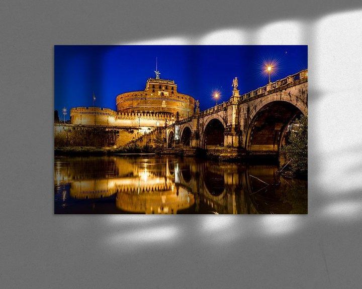 Sfeerimpressie: Engelenburcht in Rome bij avondlicht van Marco Schep