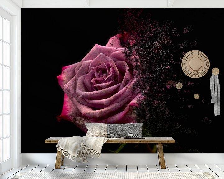 Sfeerimpressie behang: Bloemsierkunst 3 van Fela de Wit