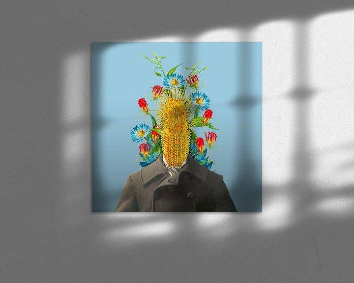 Sfeerimpressie: Zelfportret met bloemen 5 van toon joosen