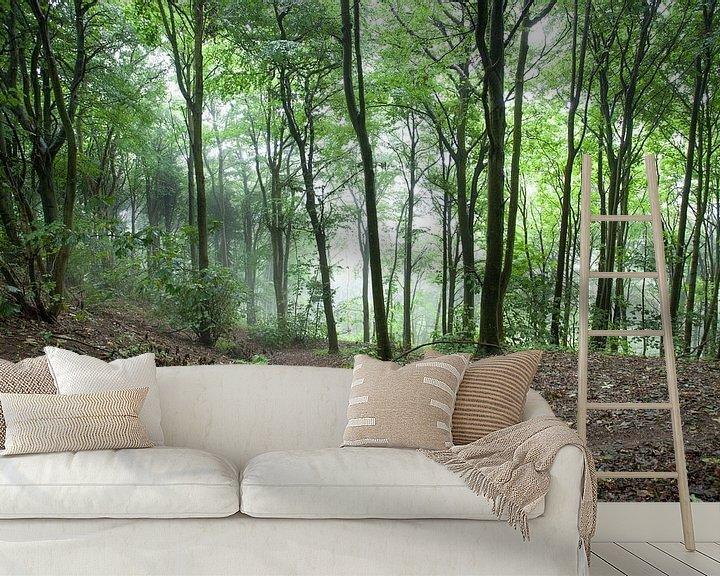 Beispiel fototapete: Wandelen in het bos von Wilbert Van Veldhuizen