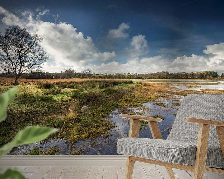 Sfeerimpressie behang: Jiltdijksheide Groningen van Martijn van Dellen