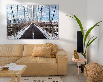Brooklyn Bridge mit Skyline NY von Inge van den Brande