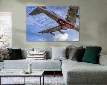 Airbus A380 landing op schiphol van byFeelingz