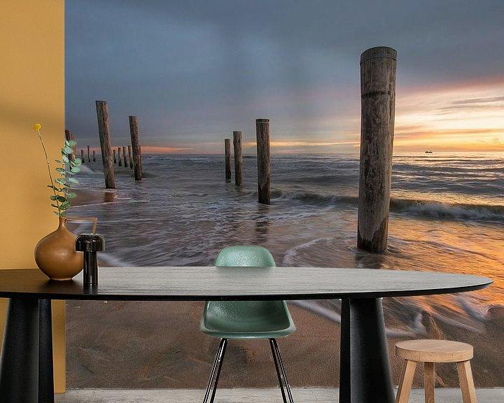 Sfeerimpressie behang: Beautiful light van Ferry veldhuizen