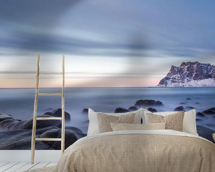 Sfeerimpressie behang: Strand Noorwegen van Steven Hendrix