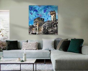 kasteel in Sirmione, Italie  von Joke te Grotenhuis