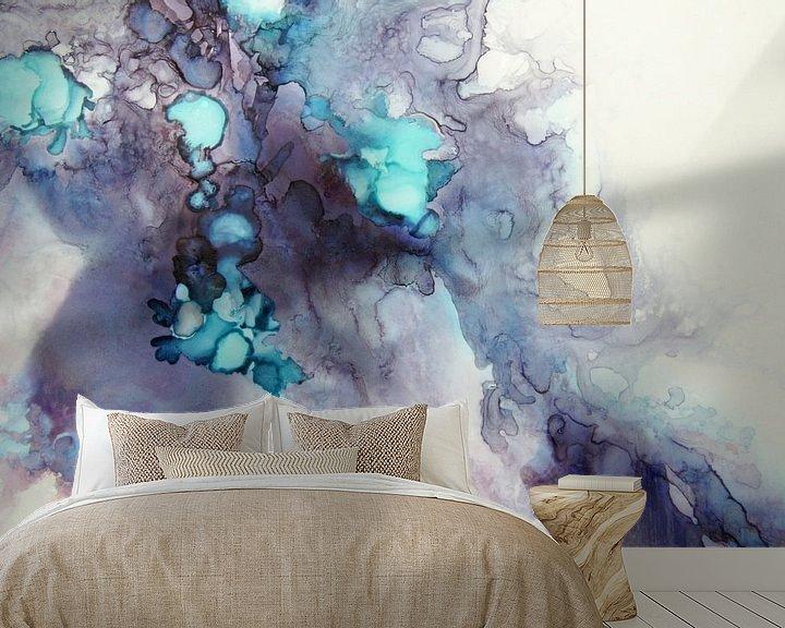 Sfeerimpressie behang: Mermaid Lagoon van Carla Mesken-Dijkhoff