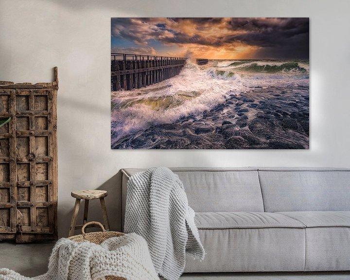Sfeerimpressie: Herfst storm aan de Nederlandse kust van Sander Poppe