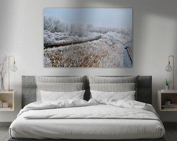 Het pad door de sneeuw van Arie  van Duijn