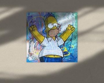 Homer Simpson mit Joint von Frans Mandigers