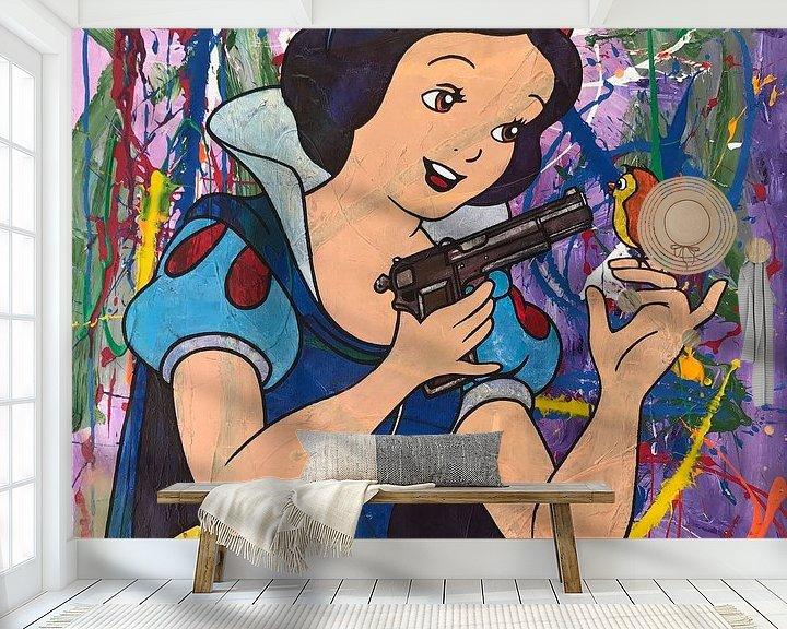 Beispiel fototapete: Schneewittchen und die Pistole von Frans Mandigers