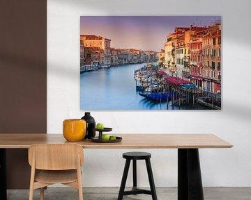 Zonsopkomst in Venetië van Henk Meijer Photography