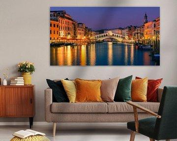 Rialto Brug in Venetië van Henk Meijer Photography
