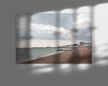 Het prachtige strand van Hastings waar we gezwommen hebben. van Wilbert Van Veldhuizen