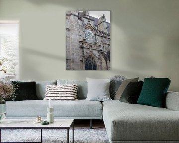 Een klok op de kerktoren van Wilbert Van Veldhuizen
