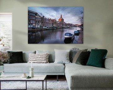 Zicht op de Marekerk, Leiden von Martijn van der Nat
