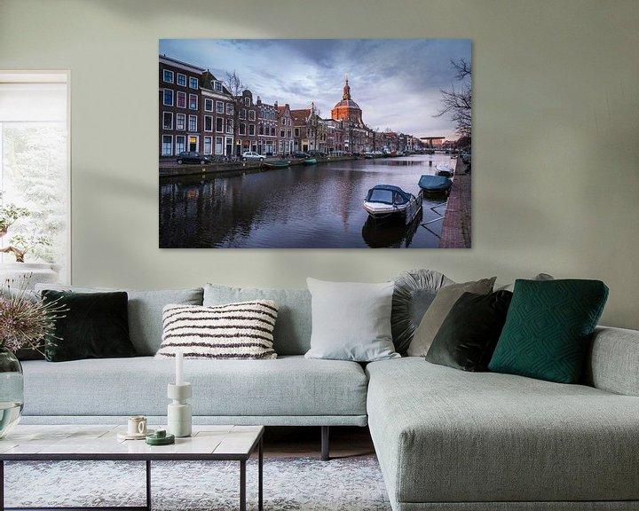 Sfeerimpressie: Zicht op de Marekerk, Leiden van Martijn van der Nat
