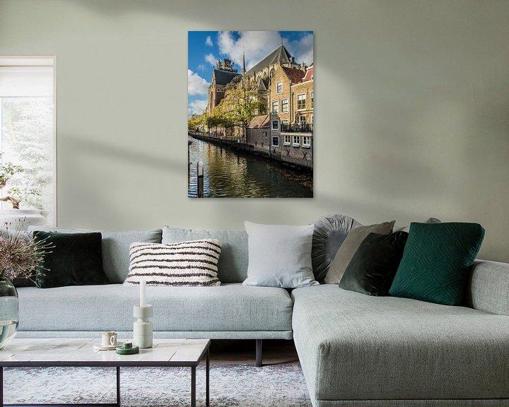 Sfeerimpressie: Grote Kerk en Pottenkade, Dordrecht van Gerrit Veldman
