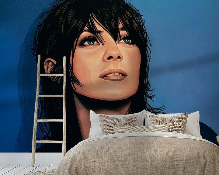 Sfeerimpressie behang: Marion Cotillard Schilderij van Paul Meijering