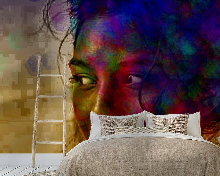 Beispiel fototapete: DigiGirl 1 von Brenda Reimers