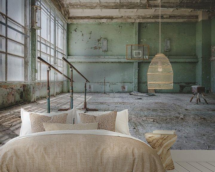 Sfeerimpressie behang: Sportzaal Tsjernobyl van Perry Wiertz