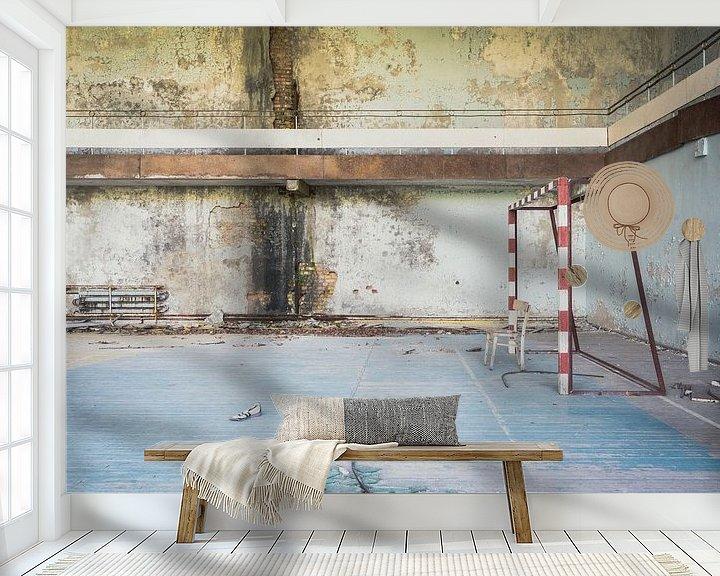 Sfeerimpressie behang: VoetbalzaalTsjernobyl van Perry Wiertz