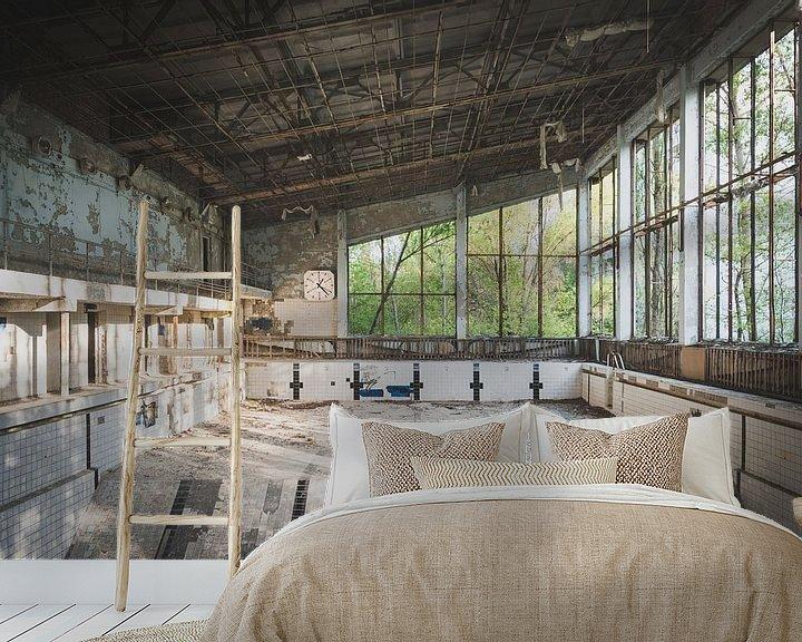 Sfeerimpressie behang: Zwembad van Perry Wiertz