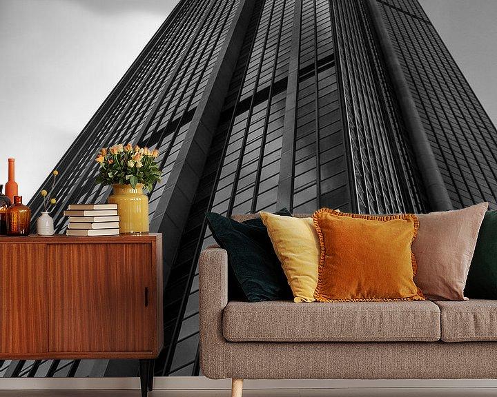 Sfeerimpressie behang: Wolkenkrabber van Chantal Nederstigt