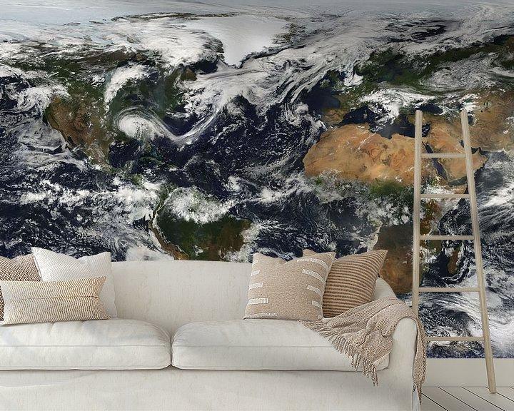 Beispiel fototapete: Weltkarte Bewölkt von Digital Universe