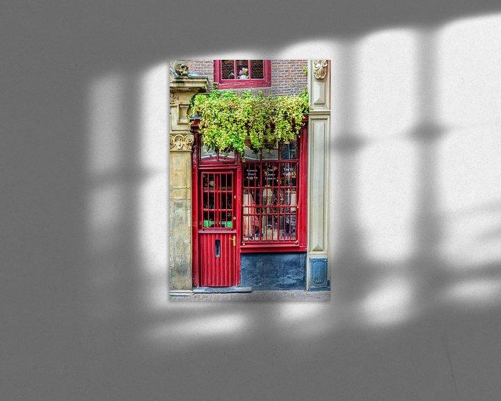 Sfeerimpressie: Kleinste huis van Amsterdam. van Don Fonzarelli