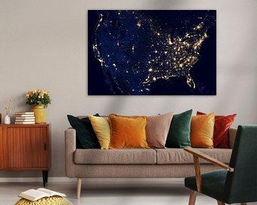 Stadtlichter der Vereinigten Staaten von Digital Universe