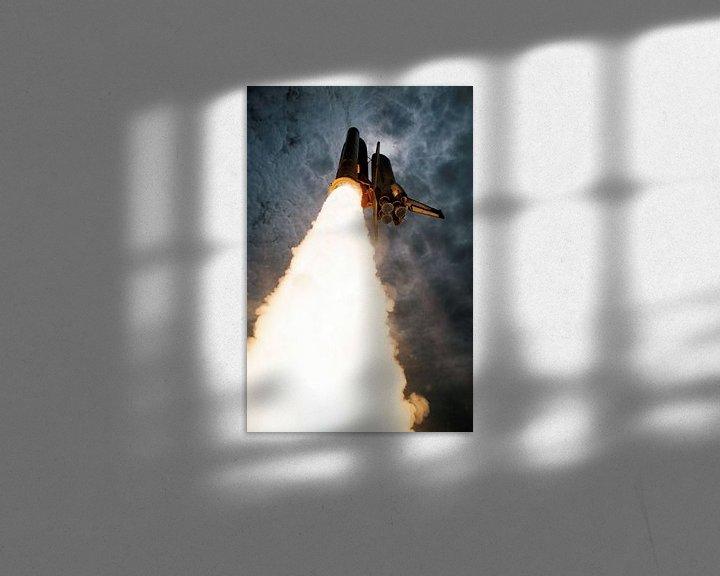 Sfeerimpressie: Space Shuttle Columbia Lancering van Digital Universe
