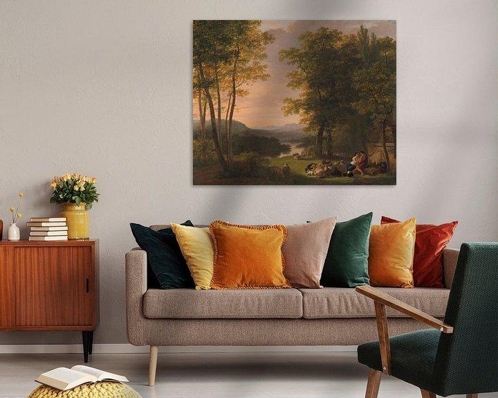 Sfeerimpressie: Jan Willem Pieneman, Arcadisch landschap (gezien bij vtwonen)