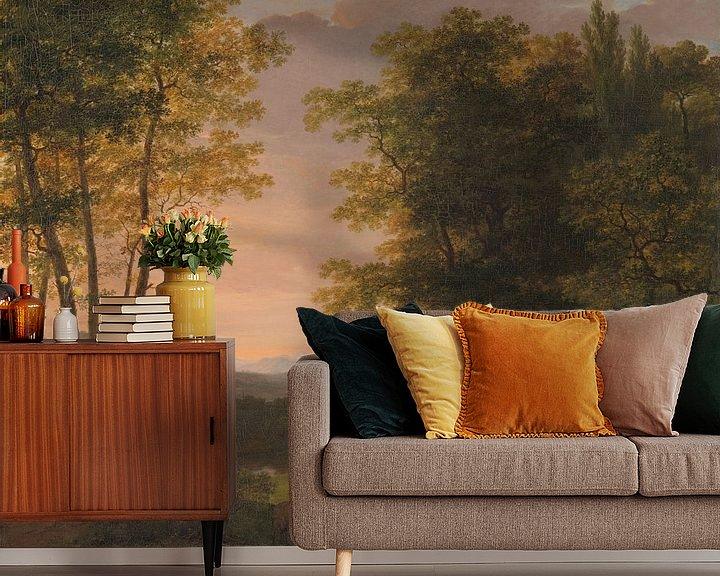 Sfeerimpressie behang: Jan Willem Pieneman, Arcadisch landschap (gezien bij vtwonen)