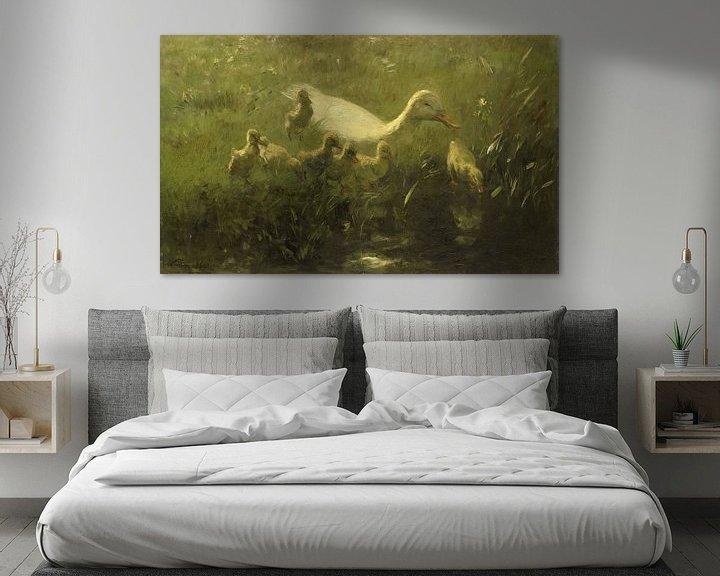 Sfeerimpressie: Willem Maris, Witte eend met kiekens