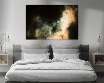 Zonsverduistering Achter de Wolken van Digital Universe