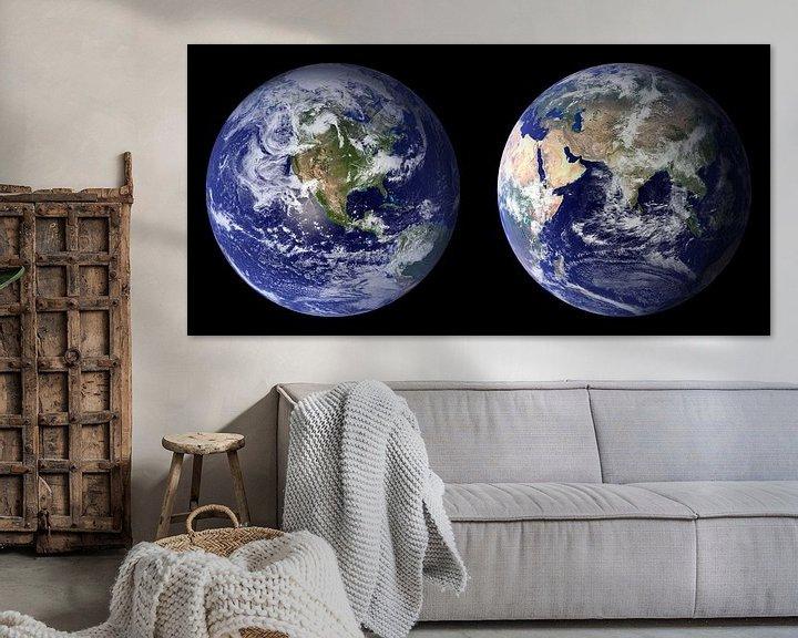 Sfeerimpressie: Dubbel Afdruk van De Aarde van Digital Universe