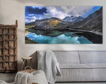 Lunersee en Autriche dans le Brandnertal Vorarlberg sur Karin vd Waal
