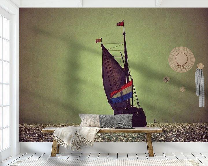 Sfeerimpressie behang: Setting sail to sea van Aart Lameris