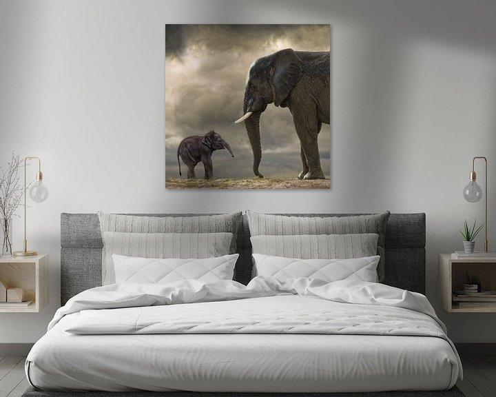 Sfeerimpressie: Baby olifant van Marcel van Balken